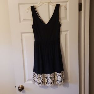 Modcloth Navy Blue with Lace Cocktail Dress